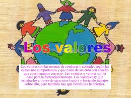 La importancia de los valores