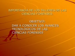 IMPORTANCIA DE LOS TALLERES DE LAS CIENCIAS …