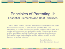 PROCLAMATION-BASED PRINCIPLES OF PARENTING …