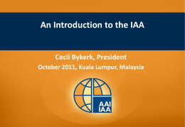 IAA Overview for SOA Board