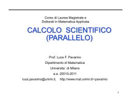 Presentazione di PowerPoint - Dipartimento di Matematica