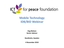 Bild 1 - ICT4Peace Foundation