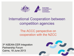 International Cooperation between competition agencies
