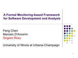 Towards Monitoring-Oriented Programming