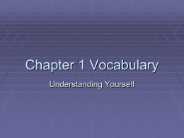 Chapter 1 Vocabulary - Humble Independent School …