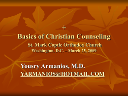 + Basics of Christian Counseling The Good Shepherd's