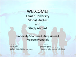 Global Studies and Study Abroad Program Proposal