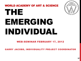 The Emerging Individual - World Academy of Art and …