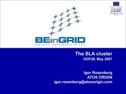 The SLA Cluster - Open Grid Forum