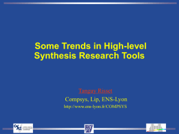 High level synthesis tools