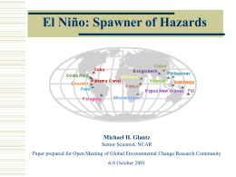 El Nino – Spawner of Hazards