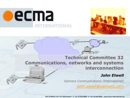 Ecma TC32 Presentation