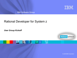Rational Developer for System z