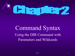 Ch 2 Command Syntax