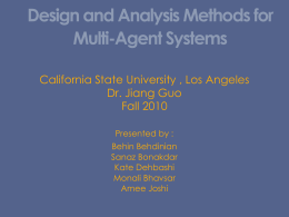 Design and Analysis Methods for Multi