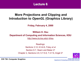CIS 736 (Computer Graphics) Lecture 6 of 30