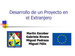 Desarrollo de un Proyecto en el Extranjero
