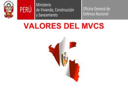 VALORES DEL MVCS