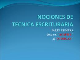 NOCIONES DE TECNICA ESCRITURARIA