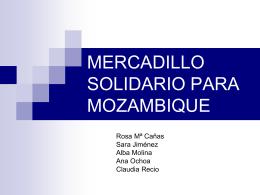 MERCADILLO SOLIDARIO PARA MOZAMBIQUE