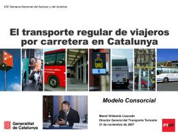 El Transporte Regular de Viajeros por Carretera en Catalunya