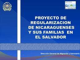 PROYECTO DE REGULARIZACION DE NICARAGUENSES Y …