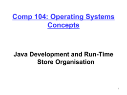Comp 204: Computer Systems and Their Implementation