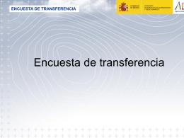 Encuesta de transferencia - AEMET