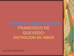 ANTOLOGIA POESIA SIGLO XVI FRANCISCO DE QUEVEDO