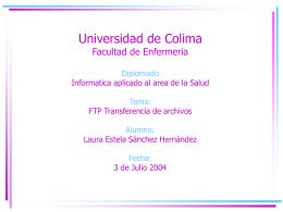 Universidad de Colima Facultad de Enfermeria Diplomado