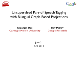 Unsupervised Part-of-Speech Tagging with Bilingual Graph