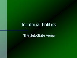 Territorial Politics