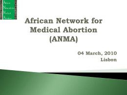 Africa Network on Medical Abortion