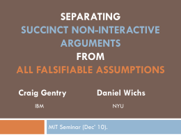 Separating succinct non-interactive arguments from all