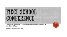 FICCI School Conference