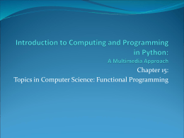 Introduction to Computing and Programming in Python: A