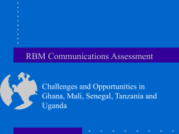 RBM Communications Assessment