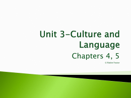 Unit 3-Cultural Patterns and Processes