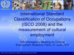 International Standard Classification of Occupations (ISCO