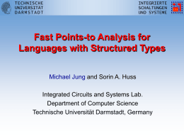 Fast Points-to Analysis for Languages with Structured Types