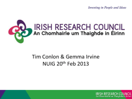 Irish Research Council - National University of Ireland