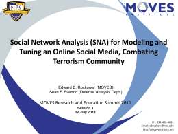 SNA for Combating Terrorism