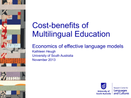 Cost-benefits of Multilingual Education