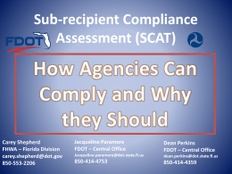 Sub-recipient Compliance