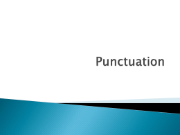 Punctuation - twpunionschools.org