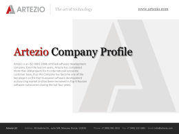 Artezio Company Profile