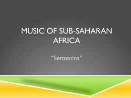 Music of Sub-saharan africa