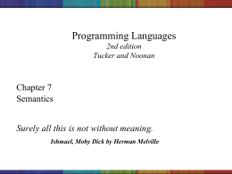 Programming Languages - UAH