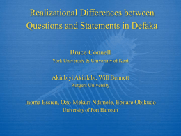 Realizational Differences between Questions and …