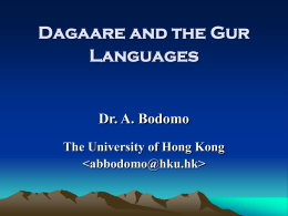Moore and the Gur Languages